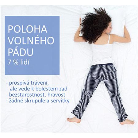spánková poloha volného pádu