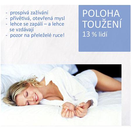 spánková poloha toužení